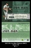 2007 SPx Iron Man Platinum #IM72 Game 779