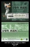 2007 SPx Iron Man Platinum #IM75 Game 688