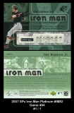 2007 SPx Iron Man Platinum #IM82 Game 494