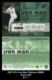 2007 SPx Iron Man Platinum #IM83 Game 484