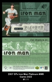 2007 SPx Iron Man Platinum #IM9 Game 2422