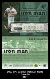2007 SPx Iron Man Platinum #IM98 Game 58