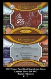 2007 Sweet Spot Dual Signatures Glove Leather Silver Ink #AC