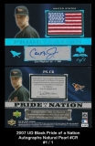 2007 UD Black Pride of a Nation Autographs Natural Pearl #CR