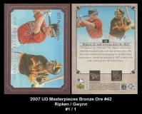2007 UD Masterpieces Bronze Ore #42