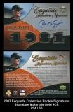2007 Exquisite Collection Rookie Signatures Signature Materials Gold #CR