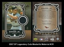 2007 SP Legendary Cuts Masterful Material #CR