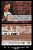 2007 SPx Iron Man Memorabilia #IM1