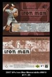 2007 SPx Iron Man Memorabilia #IM10