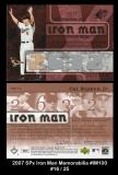 2007 SPx Iron Man Memorabilia #IM100
