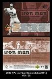 2007 SPx Iron Man Memorabilia #IM14