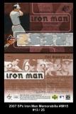 2007 SPx Iron Man Memorabilia #IM15
