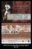 2007 SPx Iron Man Memorabilia #IM16