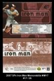 2007 SPx Iron Man Memorabilia #IM17