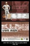 2007 SPx Iron Man Memorabilia #IM19