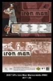 2007 SPx Iron Man Memorabilia #IM2