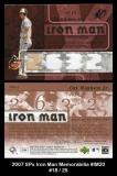 2007 SPx Iron Man Memorabilia #IM20