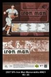 2007 SPx Iron Man Memorabilia #IM21