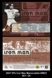 2007 SPx Iron Man Memorabilia #IM22
