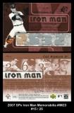 2007 SPx Iron Man Memorabilia #IM23