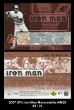 2007 SPx Iron Man Memorabilia #IM25