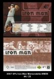 2007 SPx Iron Man Memorabilia #IM26