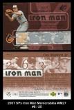 2007 SPx Iron Man Memorabilia #IM27