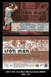 2007 SPx Iron Man Memorabilia #IM28