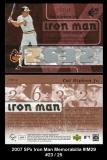 2007 SPx Iron Man Memorabilia #IM29