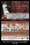 2007 SPx Iron Man Memorabilia #IM30