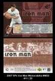 2007 SPx Iron Man Memorabilia #IM32