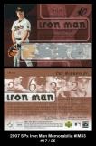2007 SPx Iron Man Memorabilia #IM33
