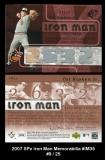2007 SPx Iron Man Memorabilia #IM35