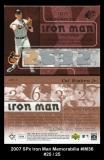 2007 SPx Iron Man Memorabilia #IM36