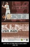 2007 SPx Iron Man Memorabilia #IM37