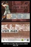 2007 SPx Iron Man Memorabilia #IM38