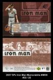 2007 SPx Iron Man Memorabilia #IM39