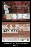 2007 SPx Iron Man Memorabilia #IM40