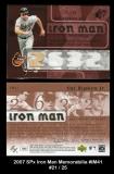 2007 SPx Iron Man Memorabilia #IM41