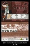 2007 SPx Iron Man Memorabilia #IM42