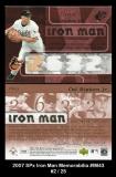 2007 SPx Iron Man Memorabilia #IM43