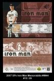 2007 SPx Iron Man Memorabilia #IM44
