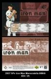 2007 SPx Iron Man Memorabilia #IM45