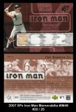 2007 SPx Iron Man Memorabilia #IM46