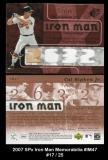 2007 SPx Iron Man Memorabilia #IM47