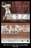 2007 SPx Iron Man Memorabilia #IM48