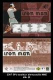 2007 SPx Iron Man Memorabilia #IM5