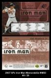 2007 SPx Iron Man Memorabilia #IM50