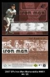2007 SPx Iron Man Memorabilia #IM51