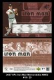 2007 SPx Iron Man Memorabilia #IM52